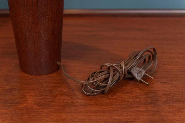 Mid-20th Century Scandinavian Modern Teak Table Lamps For Sale