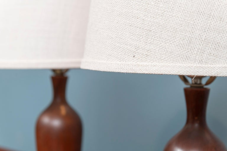 Scandinavian Modern Teak Table Lamps For Sale 1