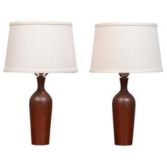Scandinavian Modern Teak Table Lamps