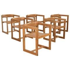 Scandinavian Modern Trybo Dining Chairs, Set of Six