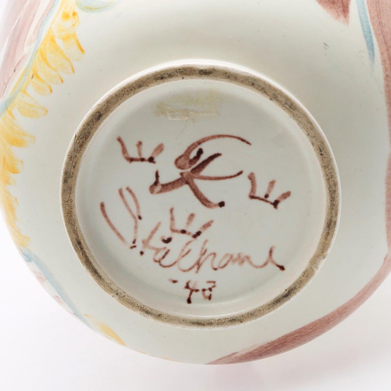 Mid-20th Century Scandinavian Modern Unique Hand Decorated Vase by Carl-Harry Stålhane, Rörstrand For Sale