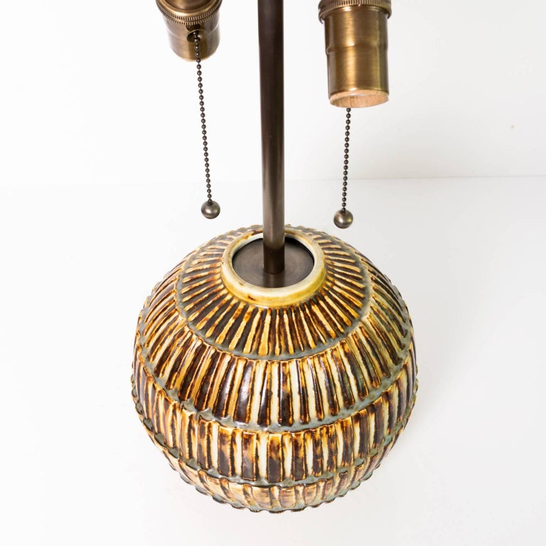 20th Century Scandinavian Modern Unique Studio Ceramic Lamp by Gertrud Lonegren, Rörstrand For Sale