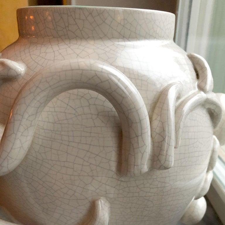 Mid-20th Century Scandinavian Modern Urn in by Eva Jancke Björk, Bobergs Faiance Pottery, Sweden For Sale