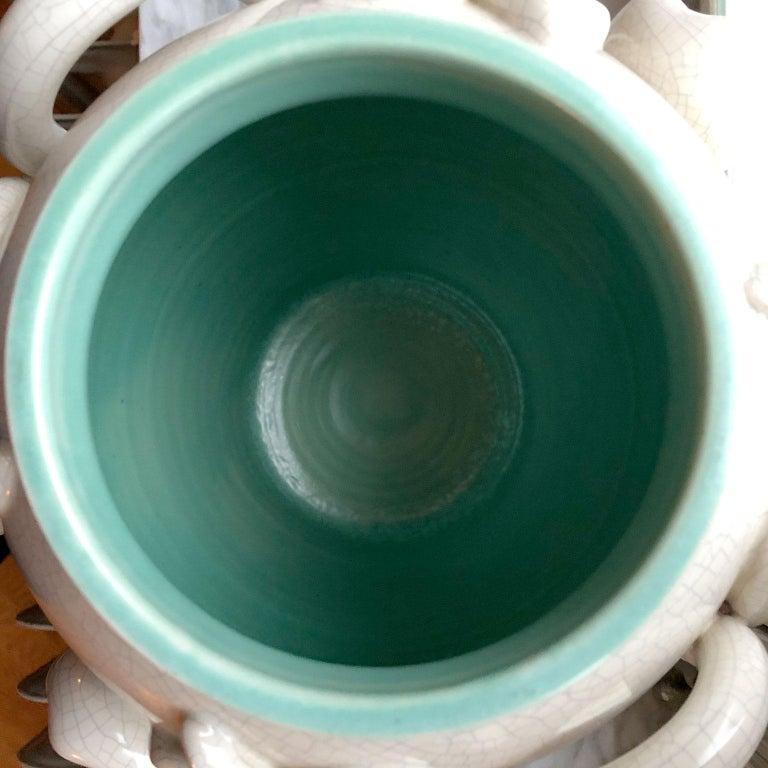 Scandinavian Modern Urn in by Eva Jancke Björk, Bobergs Faiance Pottery, Sweden For Sale 1