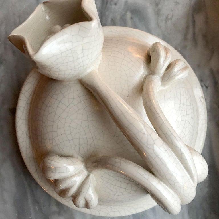 Scandinavian Modern Urn in by Eva Jancke Björk, Bobergs Faiance Pottery, Sweden For Sale 2
