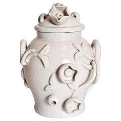 Scandinavian Modern Urn in by Eva Jancke Björk, Bobergs Faiance Pottery, Sweden