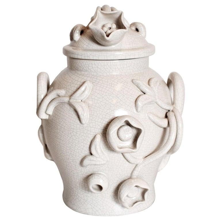 Scandinavian Modern Urn in by Eva Jancke Björk, Bobergs Faiance Pottery, Sweden For Sale