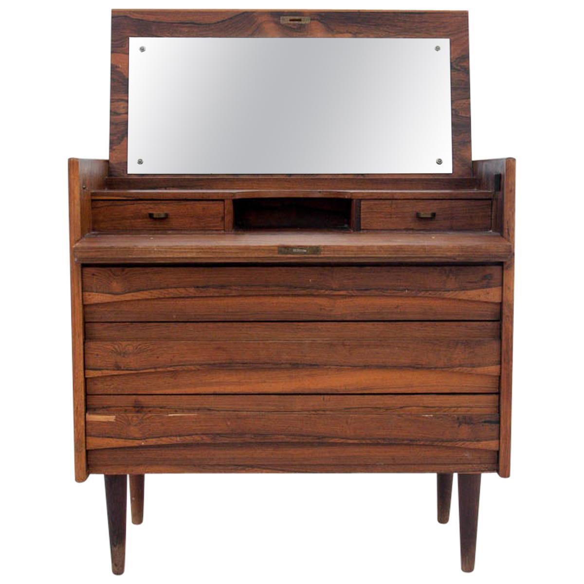 Scandinavian Modern Vanity Dressing Table, 1960s