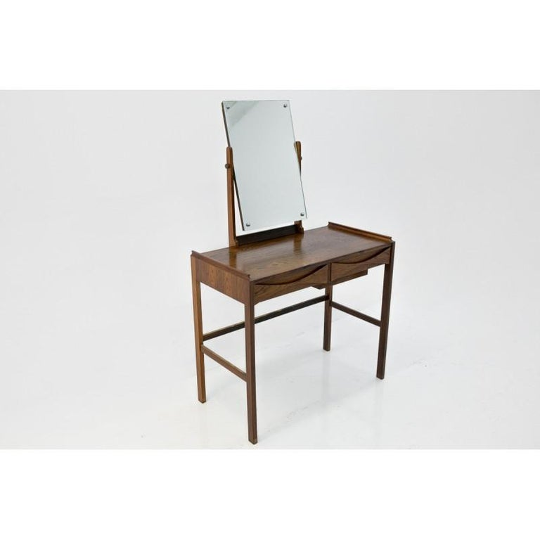 Rosewood Scandinavian Modern Vanity / Dressing Table by Arne Vodder, 1960s For Sale