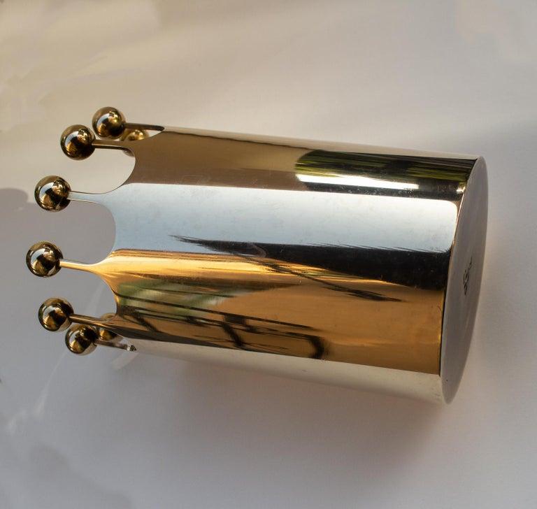 Swedish Scandinavian Modern Vase in Brass for Skultuna, Sweden by Pierre Forsell For Sale