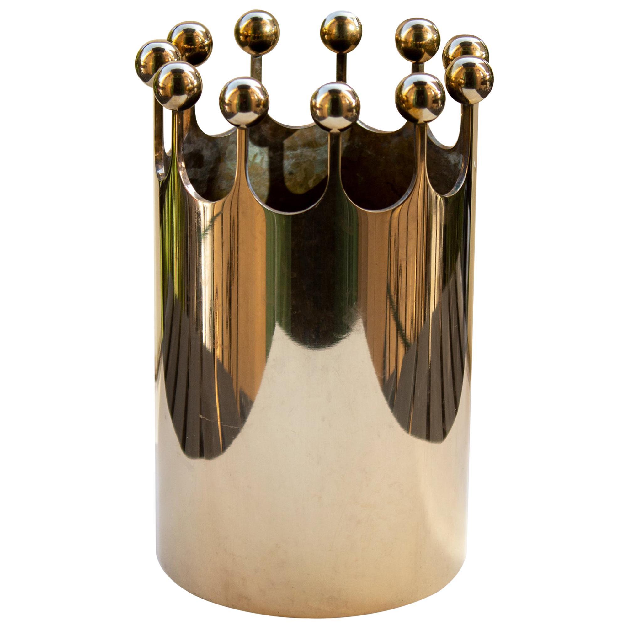 Scandinavian Modern Vase in Brass for Skultuna, Sweden by Pierre Forsell