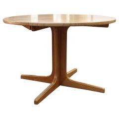Scandinavian Modern Vintage Ash Dining Table Niels Moeller 1960s Denmark