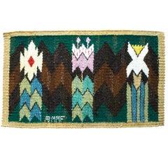Scandinavian Modern Vintage Tapestry, Täppan, designed byMarta Maas Fjetterström