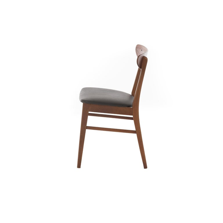 Lacquered Scandinavian Modern Vintage Teak Dining Chairs For Sale
