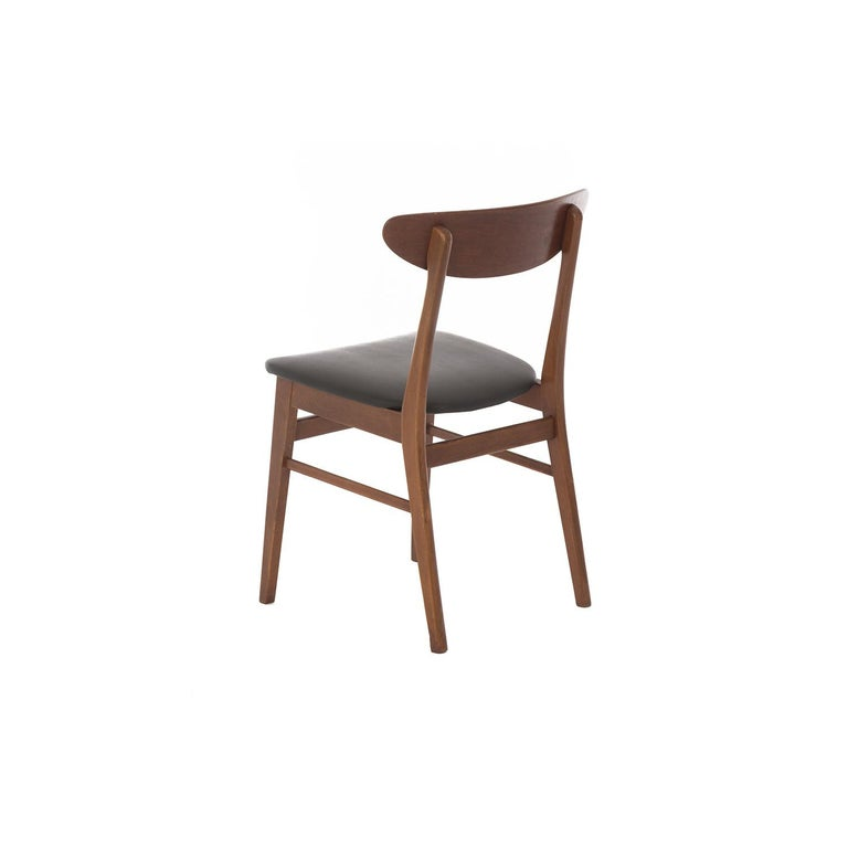 Scandinavian Modern Vintage Teak Dining Chairs In Good Condition For Sale In Minneapolis, MN