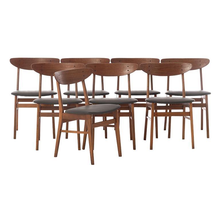 Scandinavian Modern Vintage Teak Dining Chairs For Sale
