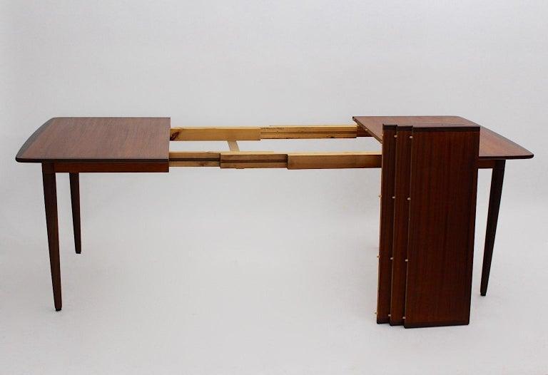 Scandinavian Modern Vintage Teak Extending Dining Table or Table Denmark, 1960s For Sale 3