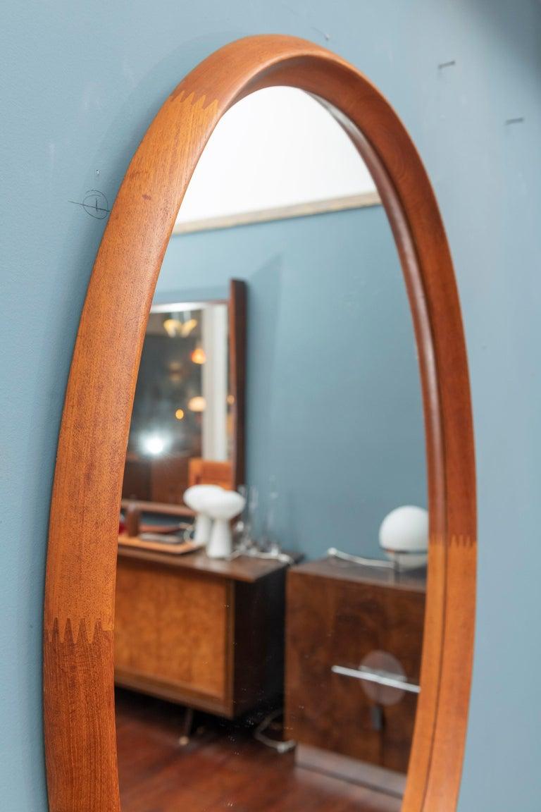 Scandinavian Modern Wall Mirror by Pedersen & Hansen In Good Condition For Sale In San Francisco, CA