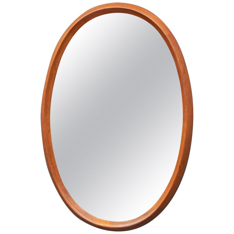 Scandinavian Modern Wall Mirror by Pedersen & Hansen For Sale