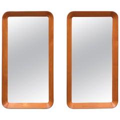 Pair of Scandinavian Modern Wall Mirrors by Pedersen & Hansen