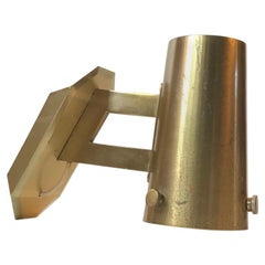 Scandinavian Modern Wall Sconce in Brass, 1960s