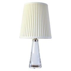 Scandinavian Modern White Glass Table Lamp by Carl Fagerlund for Orrefors
