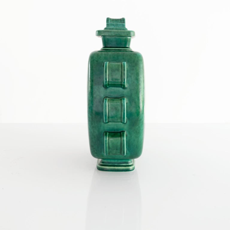 Scandinavian Modern Wilhelm Kage Art Deco Argenta Jar with Lid In Good Condition For Sale In New York, NY