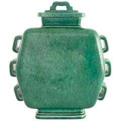 Scandinavian Modern Wilhelm Kage Art Deco Argenta Jar with Lid