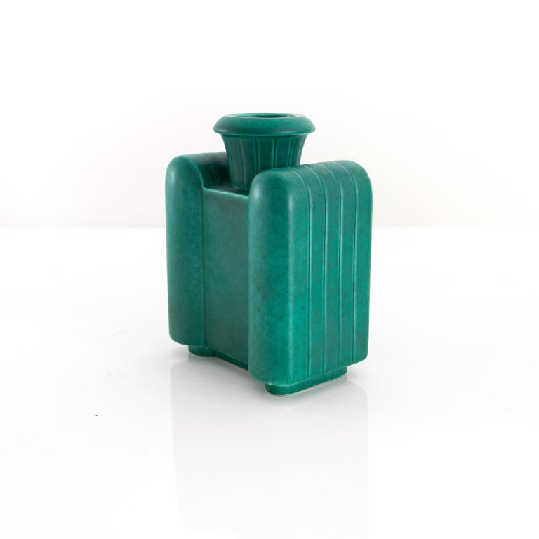 A Scandinavian Modern Swedish Art Deco vase by Wilhelm Kage for Gustavsberg, circa 1930.