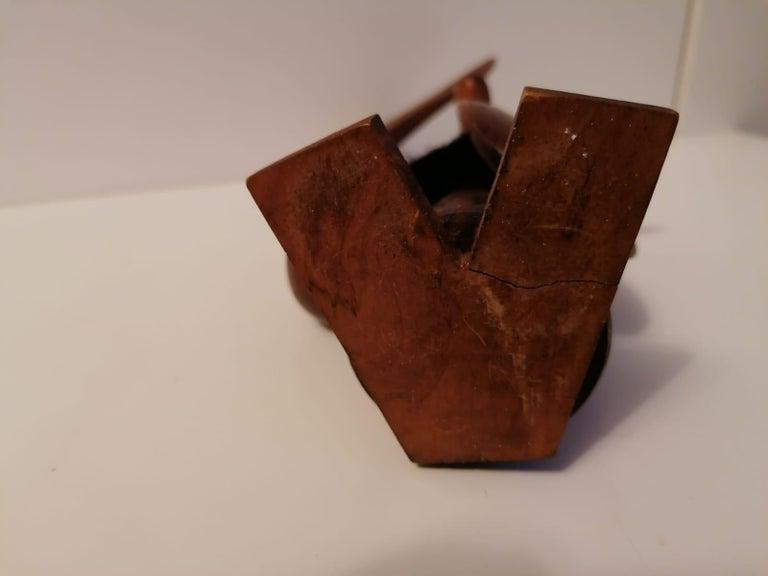 Scandinavian Modern Wooden Viking Figurine In Good Condition For Sale In Vienna, AT