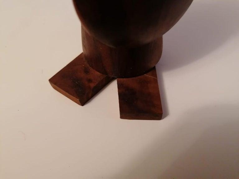 Scandinavian Modern Wooden Viking Figurine For Sale 1