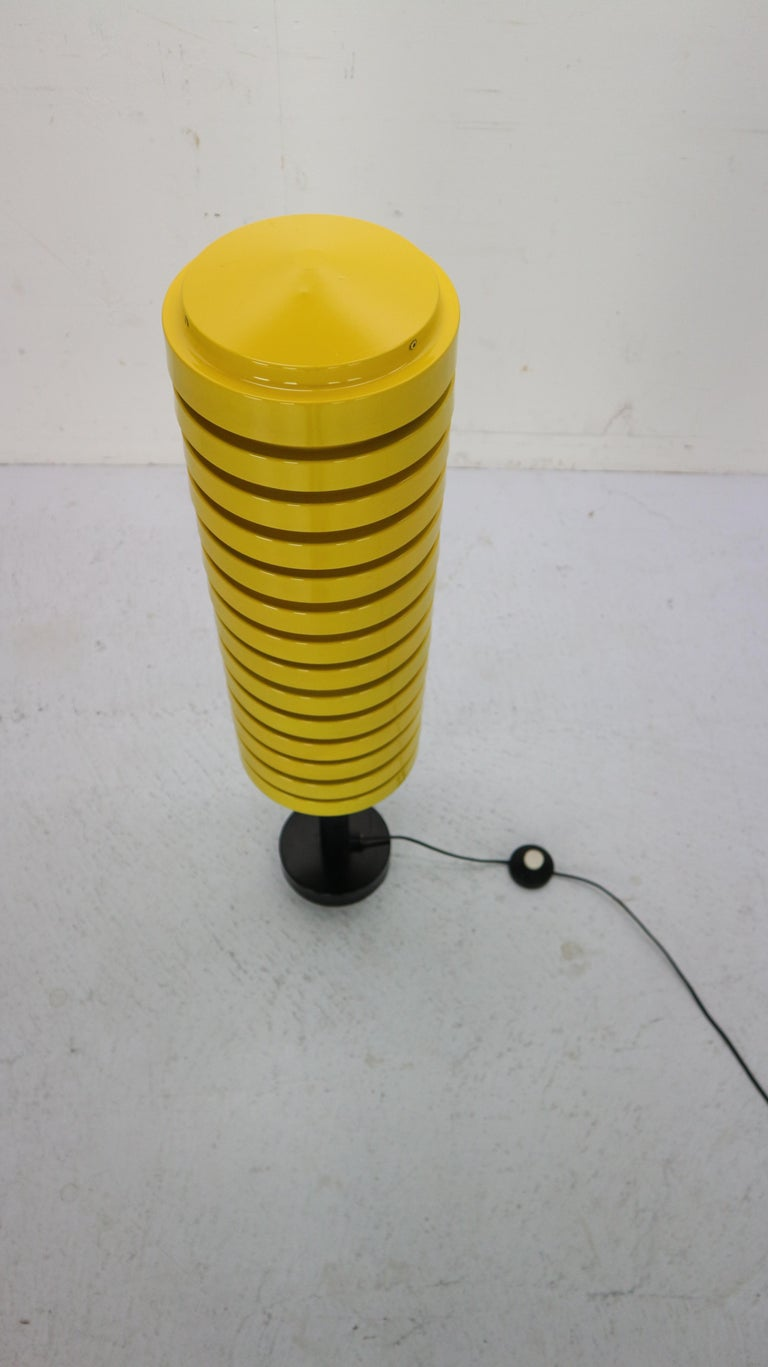 Lacquered  Scandinavian Modern Yellow Floor Lamp by Hans Agne Jakobsson for Markaryd, 1960 For Sale