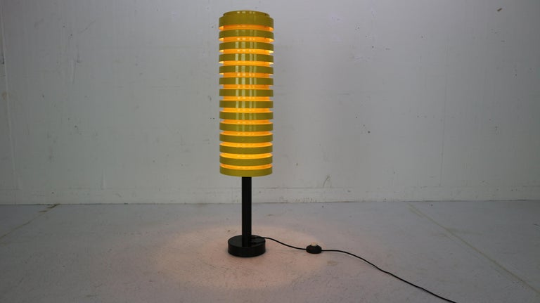 Scandinavian Modern Yellow Floor Lamp by Hans Agne Jakobsson for Markaryd, 1960 In Good Condition For Sale In The Hague, NL
