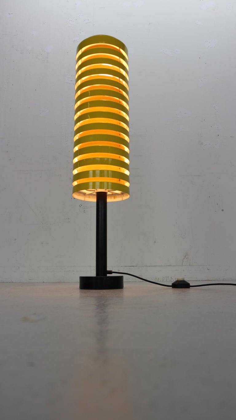 Mid-20th Century  Scandinavian Modern Yellow Floor Lamp by Hans Agne Jakobsson for Markaryd, 1960 For Sale