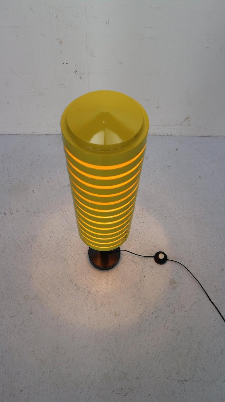 Metal  Scandinavian Modern Yellow Floor Lamp by Hans Agne Jakobsson for Markaryd, 1960 For Sale