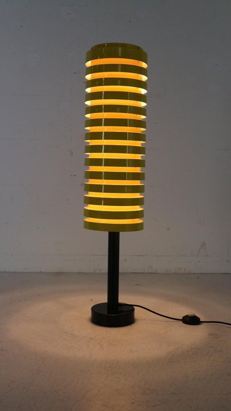 Scandinavian Modern Yellow Floor Lamp by Hans Agne Jakobsson for Markaryd, 1960 For Sale 1