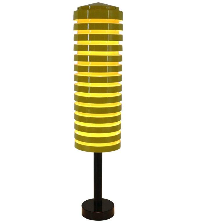 Scandinavian Modern Yellow Floor Lamp by Hans Agne Jakobsson for Markaryd, 1960 For Sale