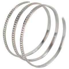 Scandinavian Modernist Bracelet in Silver by Wahlberg Gävle, Sweden, 1952