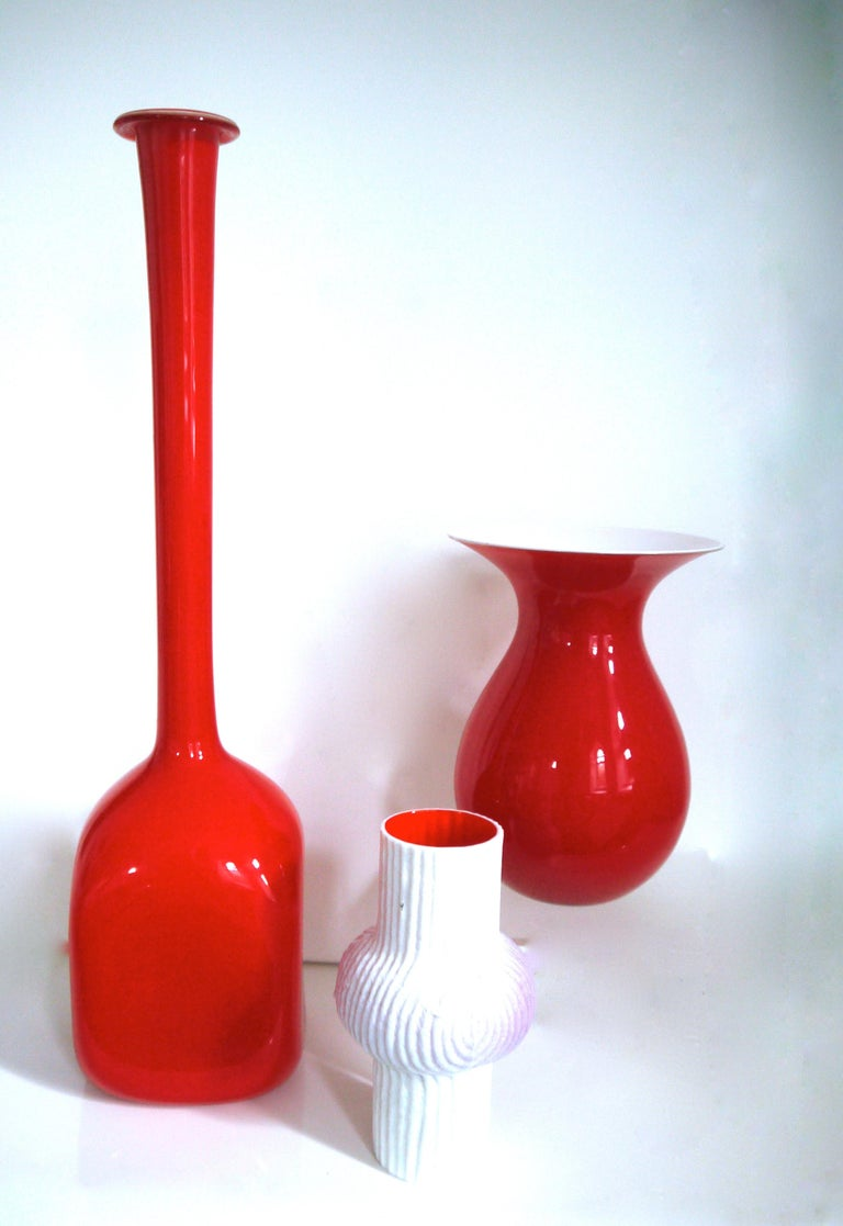 Swedish Scandinavian Modernist Glass Vase by Elme Glasbruk Pop Art Style, Late 1950s For Sale