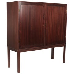Scandinavian Modernist Mahogany Cabinet in the Manner of Ole Wanscher