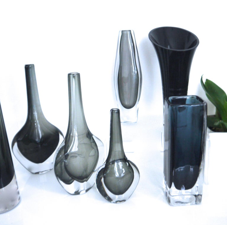 Swedish Scandinavian Modernist Nils Landberg Vase 'Dusk' Collection, Sweden, 1957 For Sale