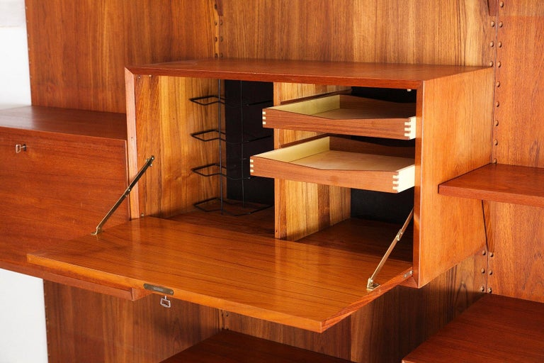 20th Century Scandinavian Modular Wall Unit by Poul Cadovius For Sale
