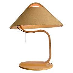 Scandinavian Molded Wood Table Lamp