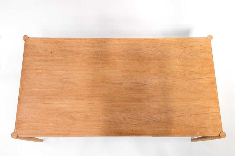 20th Century Scandinavian Natural Teak Desk, 1970s For Sale