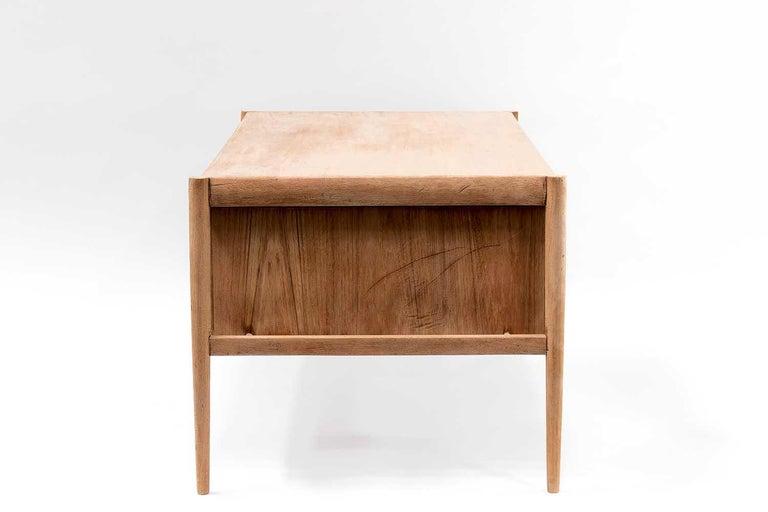 Scandinavian Natural Teak Desk, 1970s For Sale 1
