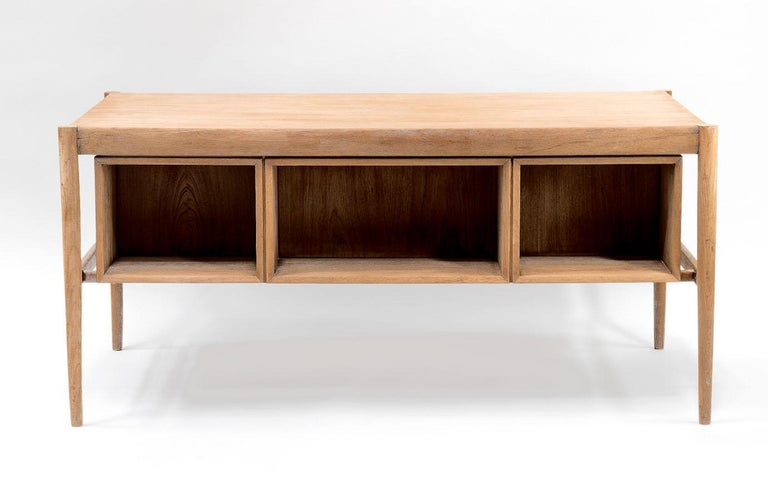 Scandinavian Natural Teak Desk, 1970s For Sale 2
