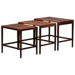 Scandinavian Nesting Tables in Rosewood 1960s Danish