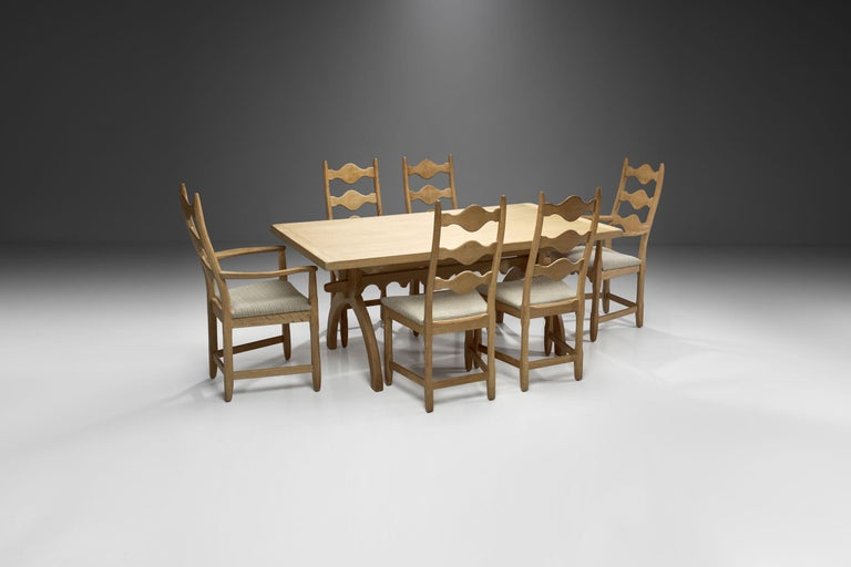 Scandinavian Oak Dining Set, Scandinavia, circa 1950s In Good Condition In Utrecht, NL