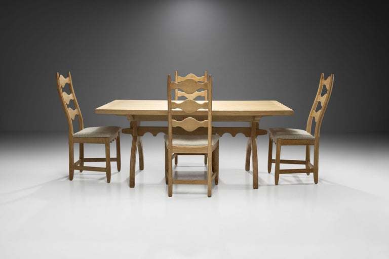 Mid-20th Century Scandinavian Oak Dining Set, Scandinavia, circa 1950s