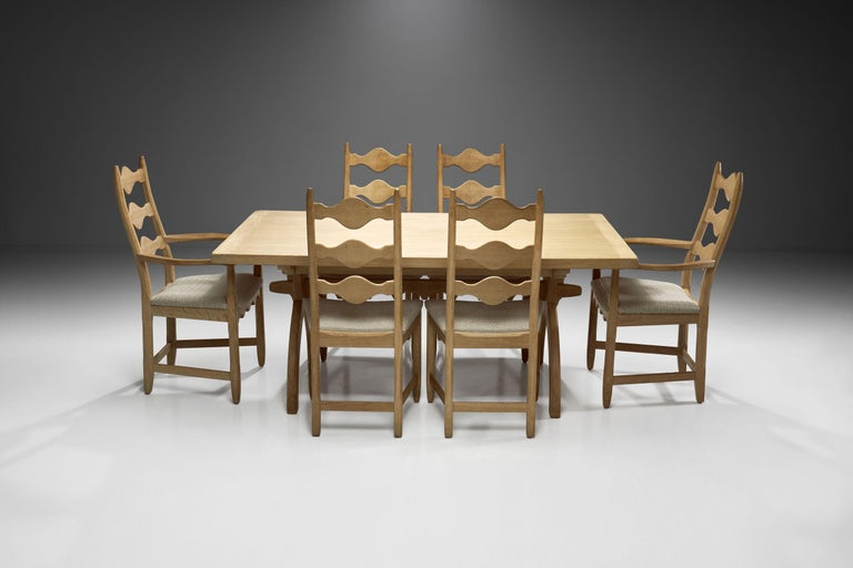 Scandinavian Oak Dining Set, Scandinavia, circa 1950s 1